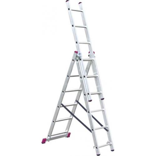 Лестница трехсекционная алюминиевая 3х13