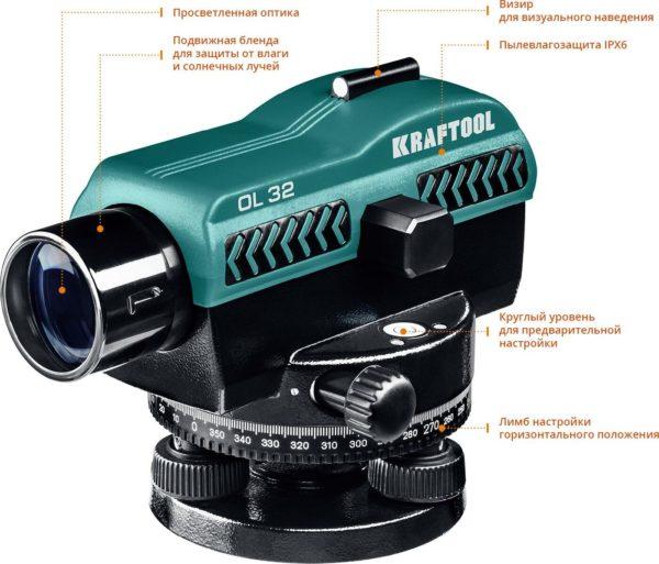 Нивелир оптический KRAFTOOL OL-32